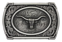Montana Silversmiths Men's Classic Antiqued Ace in the Whole Belt Buckle, Silver, hi-res