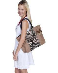 Scully Cantina Collection Taupe Cotton Canvas Handbag, , hi-res