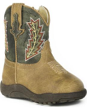 Roper Infant Boys' Cowbaby Arrowheads Pre-Walker Cowboy Boots, Tan, hi-res