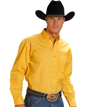 Roper Amarillo Collection Men's Shirt, Yellow, hi-res