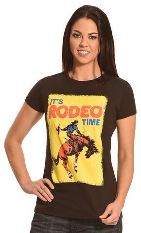 Bohemian Cowgirl Women's Rodeo Time Black T-Shirt , Black, hi-res