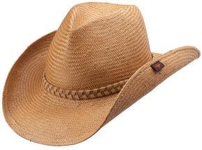 Peter Grimm Kip Straw Cowboy Hat, Tan, hi-res