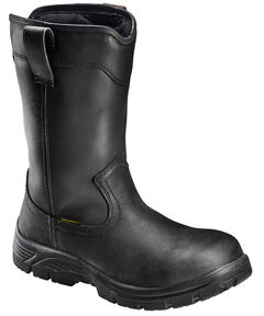 Avenger Men's Black Waterproof Wellington Work Boots - Composition Toe, , hi-res