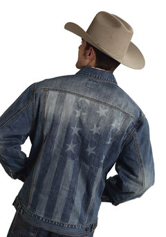 Roper Americana Collection American Flag Jean Jacket, , hi-res