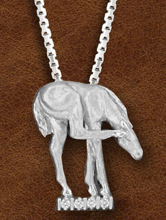 Kelly Herd Women's Sterling Silver Horse Scratching Ear Necklace, , hi-res