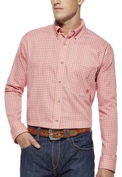 Ariat Flame Resistant Basin Red Plaid Work Shirt, , hi-res