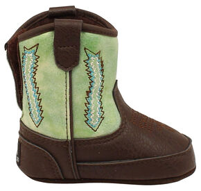 Double Barrel Wyatt Baby Bucker Boots, Dark Brown, hi-res