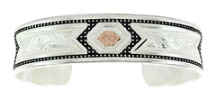 Montana Silversmiths CrossCut Two Tone Starlight Ribbons Bracelet  , , hi-res