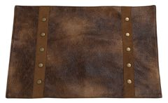 HiEnd Accents Rustic Faux Leather Placemats, , hi-res