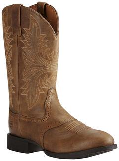 Ariat Men's Brown Heritage Hackamore Boots - Round Toe, , hi-res