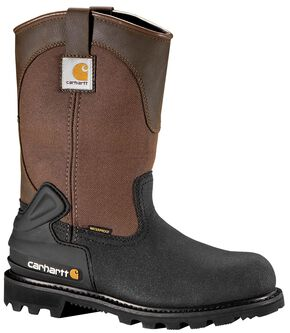 "Carhartt 11"" Insulated Brown CSA Certified Work Boots - Steel Toe, Brown, hi-res"