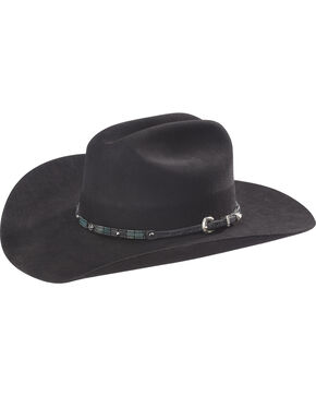 Phunky Horse Turquoise Leather Hat Band , Black, hi-res