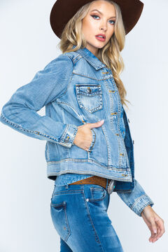 Ryan Michael Women's Indigo Jean Jacket, , hi-res