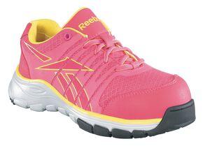 Reebok Women's Arion Composite Toe Work Shoes, Fuchsia, hi-res