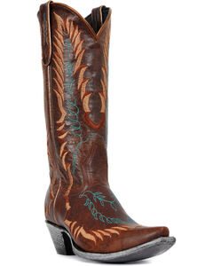 Johnny Ringo Embroidered Western Cowgirl Boots - Snip Toe, , hi-res