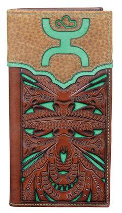 HOOey Signature Tooled Rodeo Wallet, , hi-res