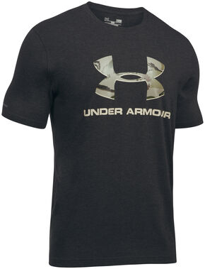 Under Armour Men's Camo Fill Logo Graphic T-Shirt, Black, hi-res
