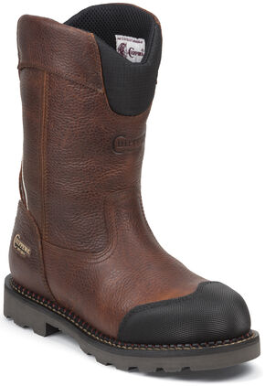 Chippewa Men's Fall Flame Waterproof XOG Pull-On Work Boots - Composite Toe, Peanut Brittle, hi-res