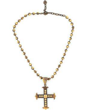 Blazin Roxx Beaded Cross Pendant Necklace, Multi, hi-res