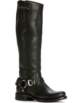 Frye Women's Jenna Chain Riding Boots - Round Toe, Black, hi-res