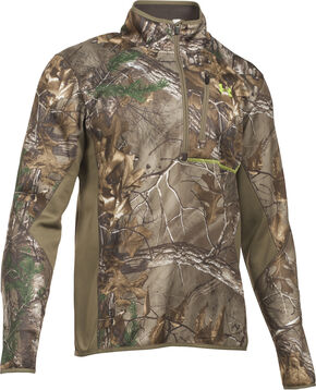 Under Armour Scent Control Armour Fleece 2.0 1/4 Zip Jacket, Camouflage, hi-res