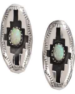 M & S Turquoise Felix Perry Blessing Sterling Silver Earrings, , hi-res