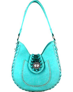 Montana West Turquoise Trinity Ranch Concealed Handgun Collection Hobo Bag, , hi-res