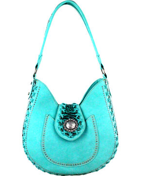 Montana West Turquoise Trinity Ranch Concealed Handgun Collection Hobo Bag, Turquoise, hi-res