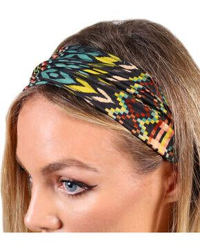 Shyanne Women's Multi Geo Print Headband , Multi, hi-res