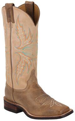 Justin Bent Rail Camel Cowgirl Boots - Square Toe, , hi-res