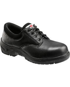 Avenger Men's Black Oxford Work Shoes - Composite Toe , , hi-res