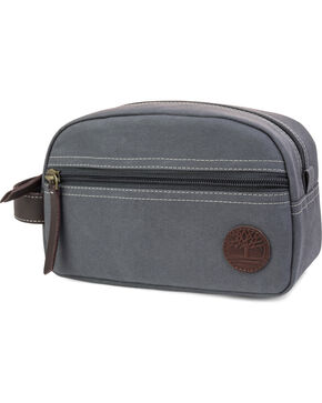 Timberland Canvas and Leather Travel Kit , Charcoal, hi-res