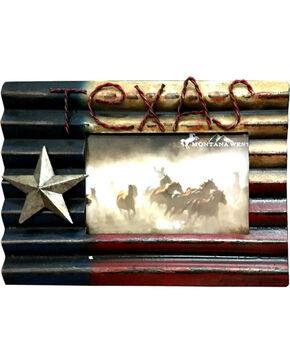 Montana West Texas Flag Metal Photo Frame , Multi, hi-res