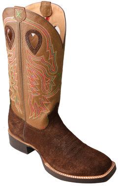 Twisted X Ruff Stock Cowboy Boots - Square Toe , , hi-res