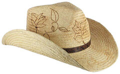 Shyanne Women's Floral Branded Cowgirl Hat, , hi-res