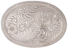 Montana Silversmiths Men's Oval Engraved Western Belt Buckle, , hi-res