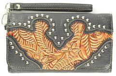 Blazin Roxx Embellished Tooled Inlay Wallet, , hi-res