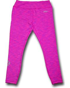 Hooey Women's Pink Space Dye Leggings , , hi-res