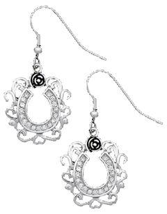 Montana Silversmiths Horseshoe Earrings, , hi-res