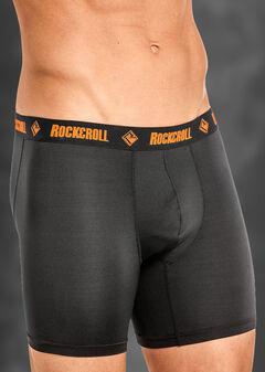 "Rock and Roll Cowboy Men's Black and Orange 6"" Boxer Briefs , , hi-res"