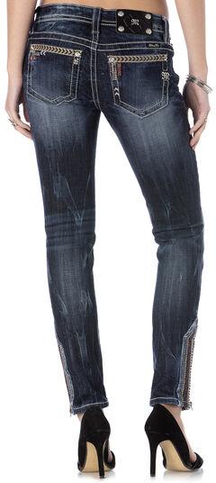 Miss Me Women's Wanderlust Ankle Zip Skinny Jeans, , hi-res