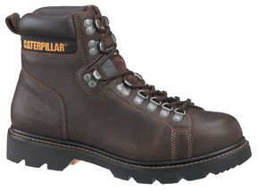 "Caterpillar 6"" Alaska FX Lace-Up Work Boots - Round Toe, Espresso, hi-res"