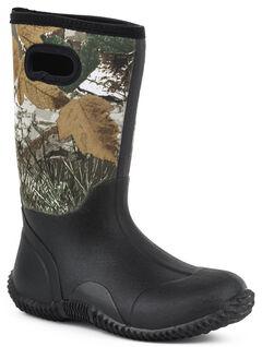 Roper Youth Boys' Camo Barnyard Boots - Round Toe, , hi-res