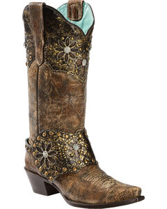 Corral Women's Collar and Harness Cowgirl Boots - Snip Toe, , hi-res