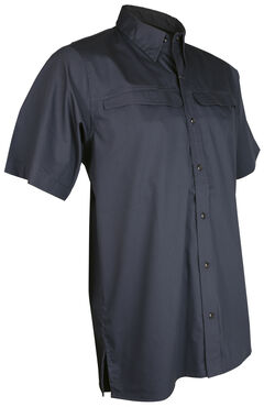 Tru-Spec Men's Grey Pinnacle Short Sleeve Shirt , Grey, hi-res
