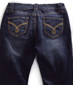 Tin Haul Women's Mimi X-Boyfriend Straight Leg Gold Embroidered Jeans, , hi-res