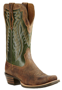 Ariat Neon Lime Futurity Performance Cowboy Boots - Square Toe , , hi-res
