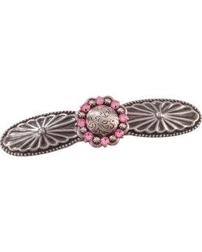 Julie Rose Western Style Pink Swarovski Crystal Concho Barrette, Pink, hi-res