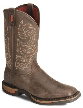 Rocky Men's Long Range Western Boots - Square Toe, Coffee, hi-res