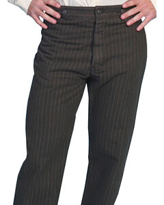 Wahmaker by Scully Cotton Saddle Cut Stripe Pants, Charcoal Grey, hi-res